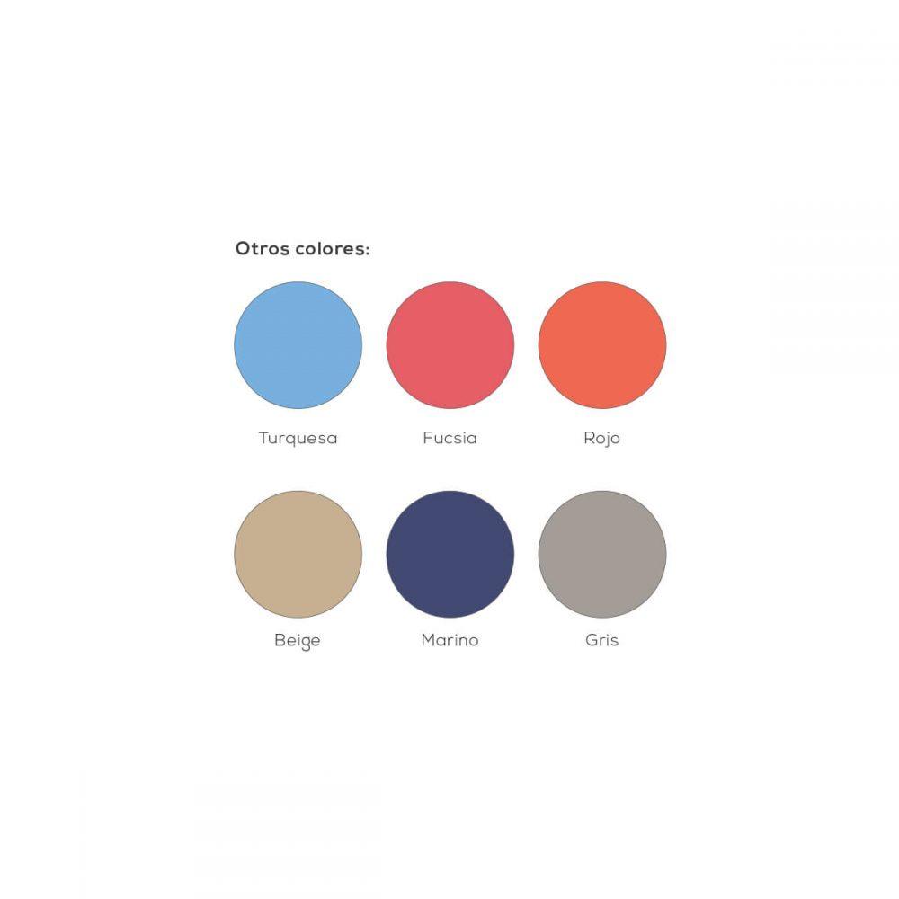 Colores del colchón cuna de viaje